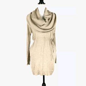 Victoria's Secret cowl drawstring sweater dress